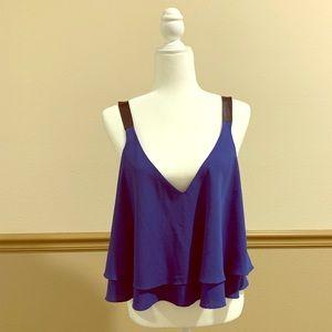 ZARA blue/black top